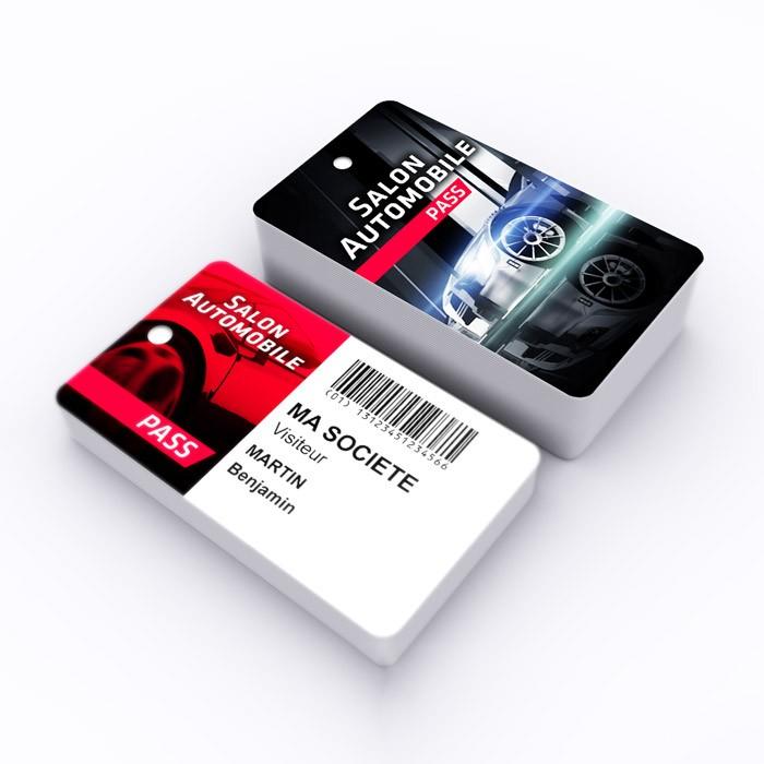badge professionnel plastique cb - salon automobile